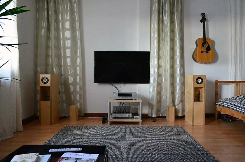 Now it just sounds right — bigger soundstage and expansive sound that fills in more efficiently the room space.