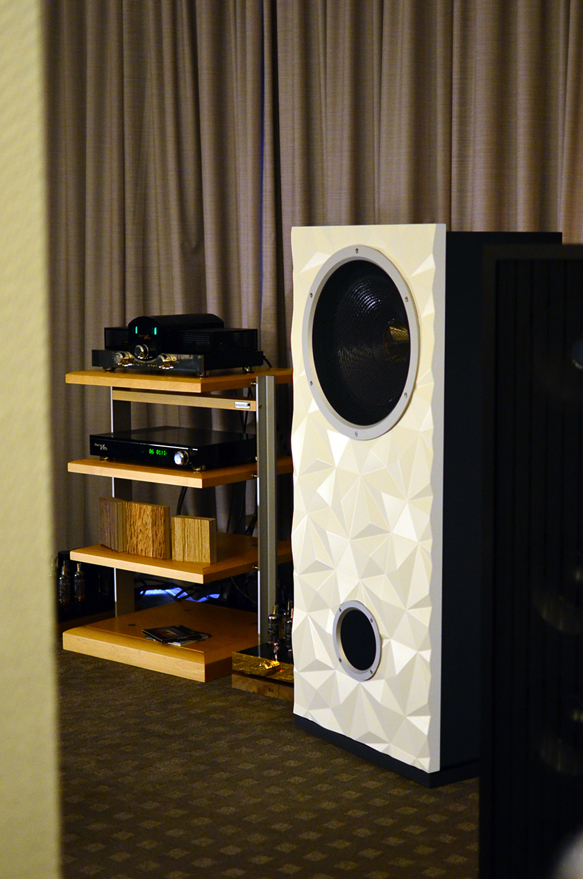 Live Act Audio's big Big-Diamant speakers paired with EternalArts preamp and OTL Mono blocks