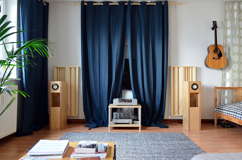 Home audio system consisting of Fostex FE 108 Sol full-range speakers in BK108 enclosure, Line Magnetic 211IA tube amplifier, AMR DP-777 digital processor, SOTM sms-200 network player, Belden 8402 interconnect cables, Belden 9497 speaker cables, Lindy USB 2.0 digital cable and Groneberg Serie 3 power cords.