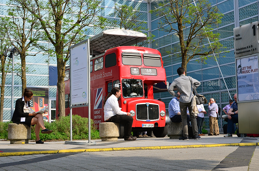 Cambridge Audio's musical bus delivered not only great portions of sound, but also very tasty coffe to its visitors.