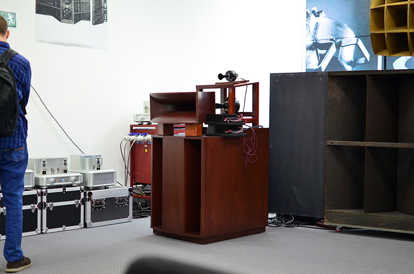 Western Electric inspired field coil speaker system from GIP Laboratory in Japan.