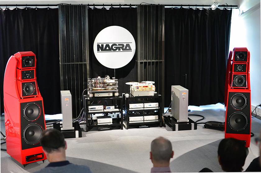 Wilson Audio Alexx speakers, Nagra HD Line, Nagra TA reel to reel Recorder, Kronos Pro turntable.