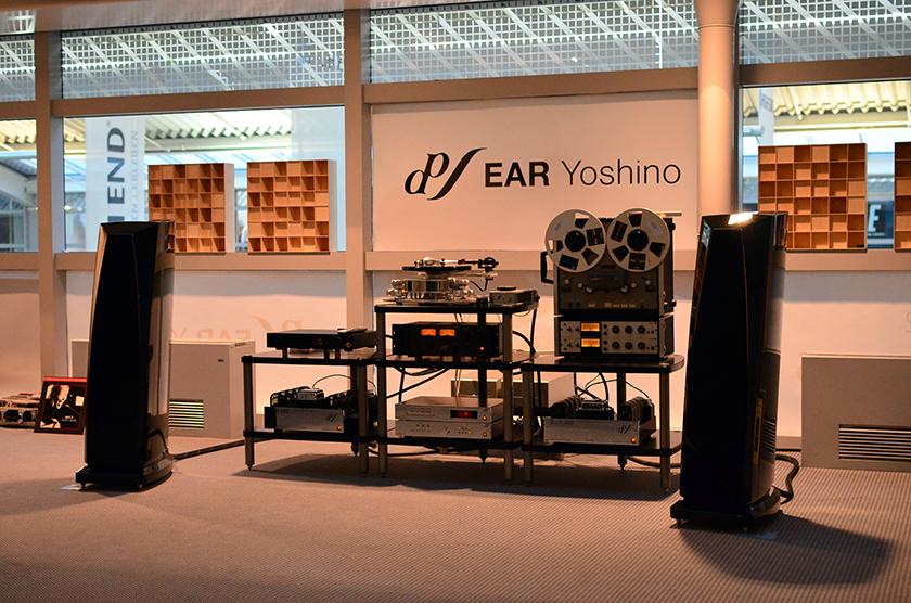 Rockport Technologies Lyra speakers driven by EAR 890 monaural power amplifiers.