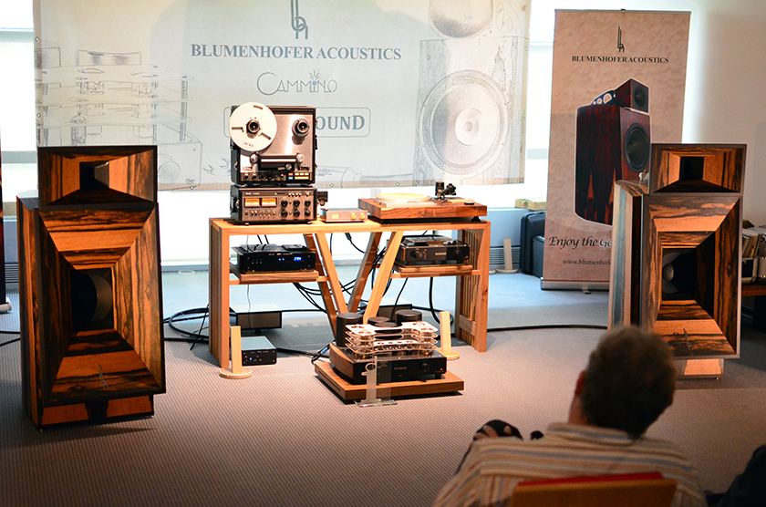 Blumenhofer Gran Gioia MK 2 loudspeakers diven by Mastersound Evolution 845 single-ended dual mono amplifier