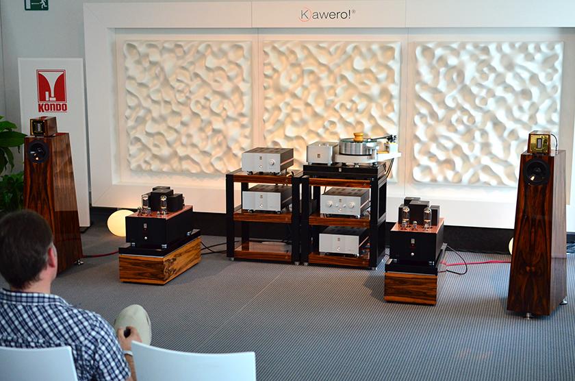 Kawero Classic loudspeakers driven by Kagura 211 monaural amplifiers