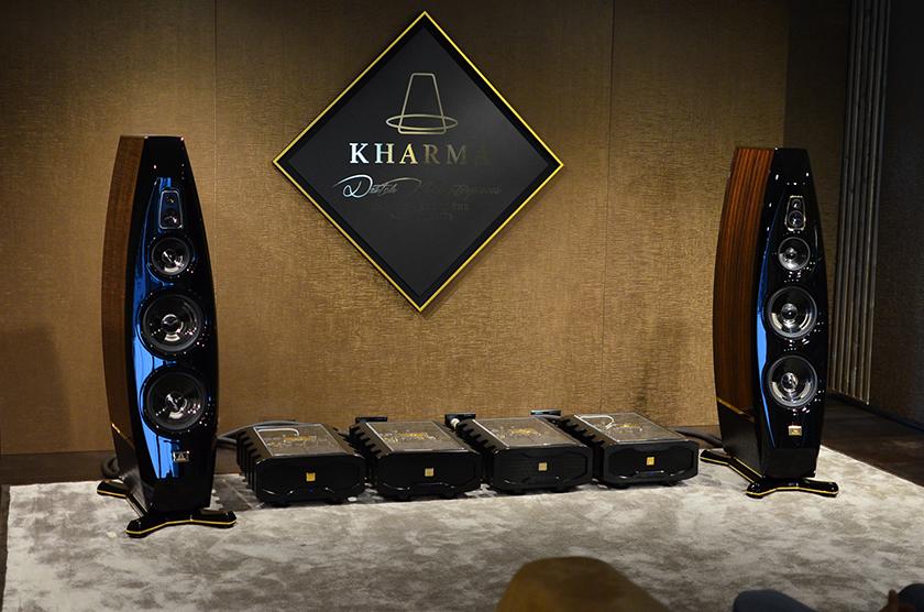 Kharma Enigma Veyron EV-4D loudspeakers driven by Exquisite MP1000 mono power amplifiers