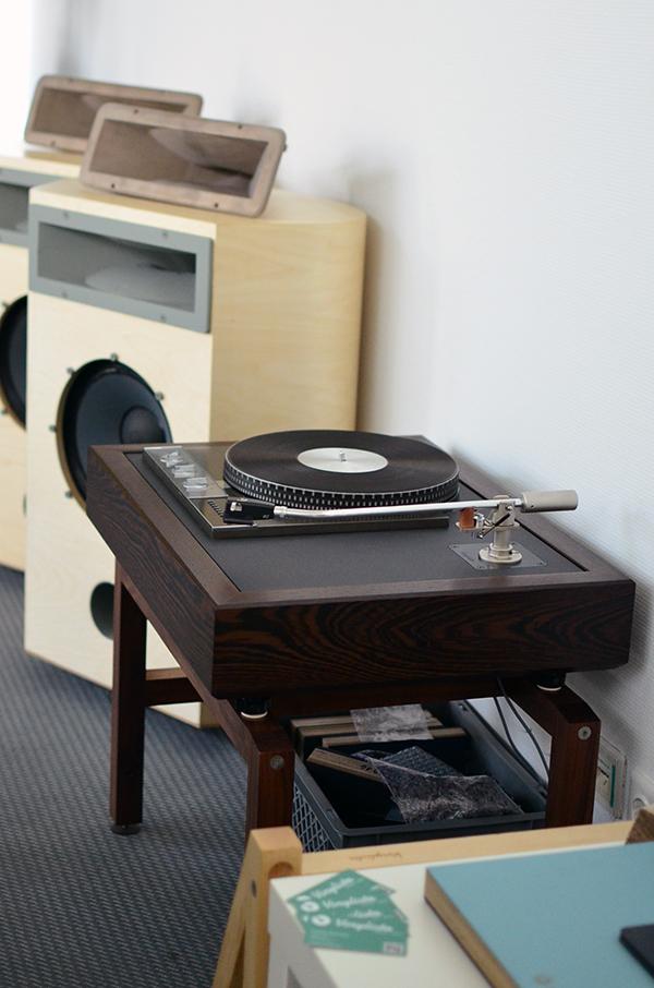 Analog source at Thomas Mayer's room - Garrard in Vinylista plinth with Thomas Schick tonearm.