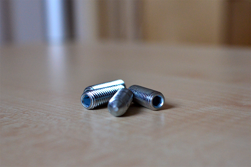 Grub screws I bought from the nearby hardware shop
