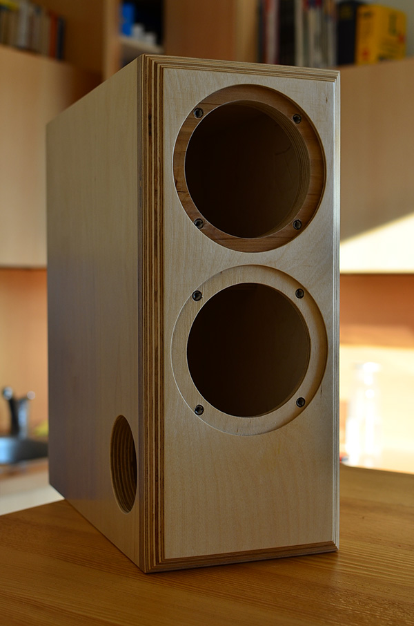 Micro Block MK2 speaker enclosure birch plywood